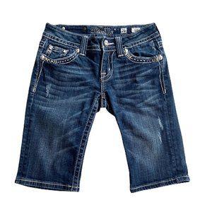 Miss Me Bermuda Shorts Embellished Denim Size 26